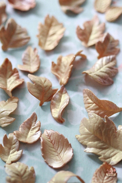 Fall-Gold-Copper-Pink-Gumpaste-Leaves-590x885